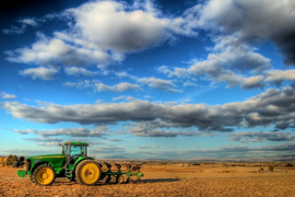 Tractor on a farm